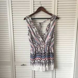 Blue, White and Pink Playsuit